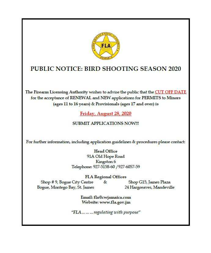 Bird Hunting Season Closing Date